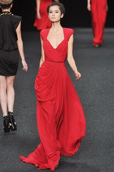 Elie Saab Spring 2010. This as a wedding dress, but not in red.