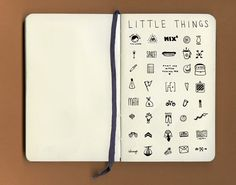 Little Things: 40 dime-sized drawings by Jillian Fisher.