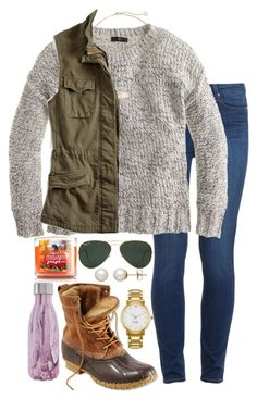 A fashion look from September 2016 featuring J.Crew sweaters, Lucky Brand vests and Paige Denim jeans. Browse and shop related looks. Fall Winter Outfits, Autumn Winter Fashion, Fall Fashion, Fashion Looks, Preppy Outfits, Cute Outfits, Fashion Outfits, Duck Boots Outfit, Boating Outfit