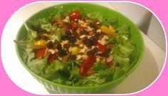 No gluten! Yes vegan!: Insalata energetica con arachidi mandorle ed uvett...