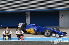 (L to R): Marcus Ericsson, Sauber F1 Team and Felipe Nasr, Sauber C34