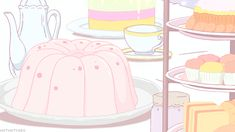 Animated gif about gif in Anime Food 🍜 by Let's Daze Anime Gifs, Anime W, Anime Art Girl, Aesthetic Japan, Aesthetic Gif, Pink Aesthetic, Kawaii Anime, Kawaii Art, Pink Wallpaper Anime
