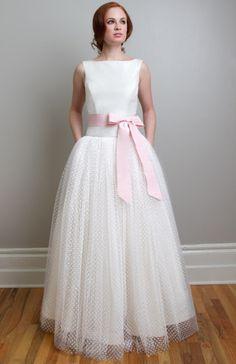 Sweet vintage inspired wedding dress