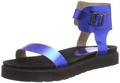 P1 313005, Damen Römersandalen Sandalen, Blau (blue), 38 EU (5 Damen UK) - http://on-line-kaufen.de/p1/38-eu-p1-313005-damen-roemersandalen-sandalen-mit