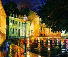 NIGHT MYSTERY - PALETTE KNIFE Oil Painting On Canvas By Leonid Afremov http://afremov.com/NIGHT-MYSTERY.html?bid=1&partner=20921&utm_medium=/vpin&utm_campaign=v-ADD-YOUR&utm_source=s-vpin