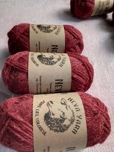 Pink sock yarn set 3x50g 100% Natural WOOL. Great for knitting