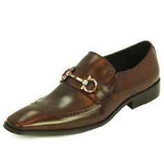 Natazzi Italian Napa Calfskin Leather Shoes Men's Carl Loafer Slip-On Model Venice L-3010 Antique Brown (10 D(M) US / 43 (M) EU) All Napa calfskin polished leather upper. Timeless dress loafers with buckle / full leather lining for improved comfort and fit / rubber sole. The clean-lined Cloude looks handsome when dressed up or down. Padded heel provides out-of-the-box comfort. Perfect for all weat... #LucianoNatazzi #Shoes