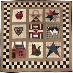 Country Cottage Primitive Throw or Childrens Patchwork Quilt