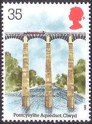 Pontcysyllte Aqueduct carries the Shropshire Union Canal across the River Dee. Uk Stamps, Love Stamps, Postage Stamps, Stamp Collecting, World Heritage Sites, Archaeology, Great Britain, Symbols, Collection