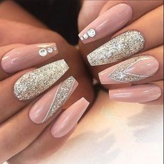70 Eye-catching And Fashion Acrylic Nails, Matte Nails, Design You Should Try In Prom And Wedding - Nail Idea 18
