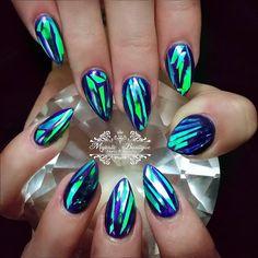 Shattered Glass Nails by missmajestic_xo