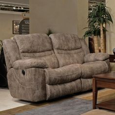 Catnapper Valiant Rocking Reclining Loveseat in Marble with Power Option