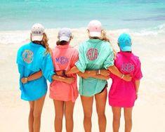 Monogrammed women's fishing shirt cover up by HillstoHeelsDesigns