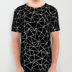 Shattered White on Black All Over Print Shirt by Project M | Society6