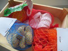 Kaufladen-Gemüse-/Früchtenetze selber machen