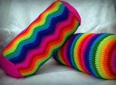 Almohadones caramelo al Crochet