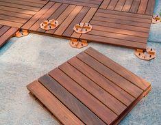 Transform a Concrete Patio - All For Garden Concrete Patios, Outdoor Tile Over Concrete, Wood Deck Tiles, Patio Slabs, Patio Tiles, Cement Patio, Outdoor Tiles, Wood Patio, Outdoor Flooring