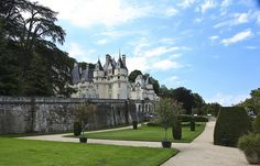 Chateau D'Usse - Amboise, France  Dating from the 15th century, this gorgeous white castle is said to have been the inspiration for Charles Perrault's famous tale, La belle au Bois Dormant - or for us English speakers - Sleeping Beauty. It is also rumored that Walt Disney designed his parks after the incredible gardens at Chateau D'Usse, created by the same architect that designed Versailles.