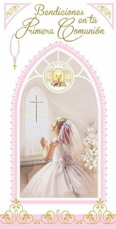 First Communion Invitations, 3d Sheets, Izu, Paper Crafts, Diy Crafts, Prayer Cards, Christian Encouragement, Lol Dolls, Corpus Christi