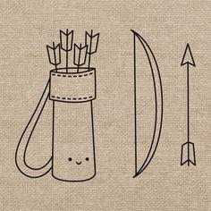 Free Archery Embroidery Pattern @ Wild Olive