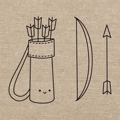 Free Archery Embroidery Pattern @ Wild Olive