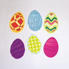 GelWonder | Window Clings | Large Bag of Pretty Eggs | Easter Eggs | Easter | Can be used on any non-porous surface | www.homearama.co.uk