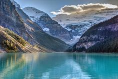 Victoria Glacier reflection at Lake Louise, Banff national Park, Alberta, Canada