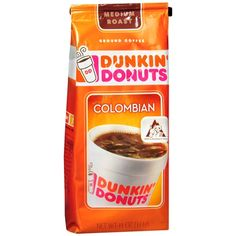 Rich and smooth, made from only premium beans, this coffee lets you experience that signature Dunkin' Donuts taste at home. Rich and smooth, made from only premium beans, this coffee lets you experience that signature Dunkin' Donuts taste at home. Coffee Cafe, Coffee Drinks, Dunkin Donuts Franchise, Donut Media, Iced Latte, Premium Coffee, Dunkin Donuts Coffee, Coffee And Tea Accessories