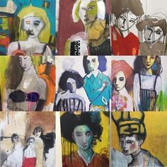 Bit of a selection from this year! Thank so much for all the wonderful comments and support from far and wide! So appreciate it❣️#art #artist #canvas #paint #mixedmedia #acrylic #marks #markmaking #pencil #charcoal #collage #faces #figures #females #lifedrawing #instagramart #instaart #instagood #instadaily #kunst #gallery #margaretrivergallery #gallerywall #creative #newyear #2018 #newenergy #newinspiration