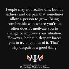 Sadness and Despair quote