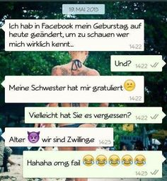 lustige WhatsApp Chats - Funny WhatsApp Videos, Messages, Jokes and Pictures . Funny Friday Memes, Funny Jokes, Epic Fail Pictures, Funny Pictures, Whats App Fails, Haha, Funny Chat, Image Citation, Epic Texts