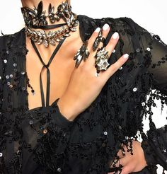 Couture Jewellery and Body ArtWear ⭐️ Online Boutique Global Shipping ⭐️ Designed by Emmanuele Tsakiris  iam@HouseOfEmmanuele.com  HouseEmmanuele I Love Jewelry, Statement Jewelry, Crystal Choker, Classy Dress, Beautiful Necklaces, Fashion Necklace, Chokers, Jewels, Chic