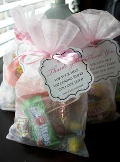 l + k + e: Wordless Wednesday: Goodie Bags for the Nurses -- Check!