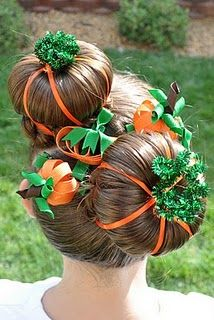 Pumpkin Patch Hairstyle, now this is an idea for crazy hair day!!!