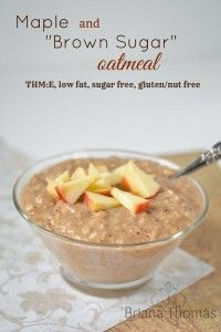 "**not overnight oats** Creamy Maple and ""Brown Sugar"" Oatmeal"