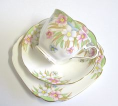 CIJ Vintage China Tea Trio Royal Albert Pastel by TheWhistlingMan