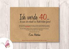 Invitation cards - birthday invitation with envelope // burl wood - a design . - Invitation cards – Birthday invitation with envelope // burl wood – a unique product by postkar - Birthday Gifts For Bestfriends, Bff Birthday Gift, 40th Birthday, Birthday Cards, Diy Birthday Invitations, Handmade Birthday Gifts, Scrapbook, Invitation Cards, Etsy