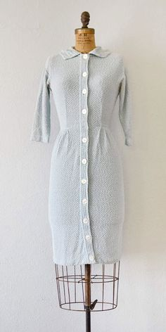 vintage 1950s knit dress | Girl at the Library Dress | Adored Vintage