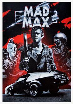POSTER FURY ROAD MAD MAX ACTION FILM MOVIE LOCANDINA GAS MACHINE APOCALYPTIC ART
