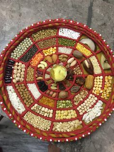 Discover thousands of images about Decorate With Dry Fruits Indian Wedding Gifts, Desi Wedding Decor, Wedding Stage Decorations, Diwali Decorations, Wedding Crafts, Festival Decorations, Arti Thali Decoration, Decoration Design, Wedding Gift Baskets