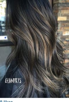 Dark brown base with ash blonde bayalage