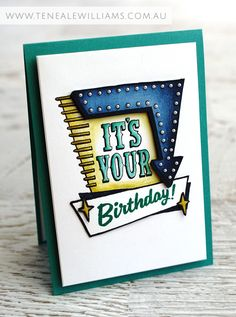 By Teneale Williams | Stampin' Up! Marquee Messages Photopolymer Stamp Set