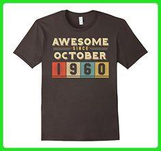 Mens Vintage Born in October 1960 57th Birthday 57 Years Old XL Asphalt - Birthday shirts (*Amazon Partner-Link)