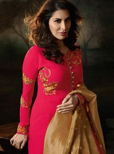 01bd01e784 Buy Sophie Choudry Pink color georgette party wear suitin UK, USA and Canada
