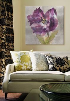 Add a little zest to your living room, with the help of a floral canvas print! Check it out at GreatBIGCanvas.com