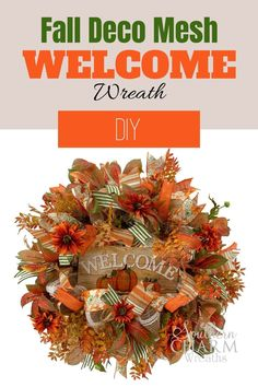 Learn how to make a fall deco mesh wreath with Julie, of Southern Charm Wreaths. You will have step by step instructions and great tips and techniques for your DIY wreath!