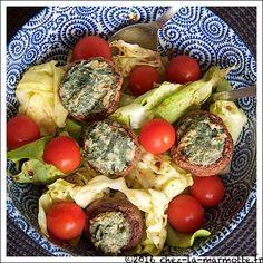 Champignons farcis à la ricotta et aux fanes de radis | Marmotte cuisine !