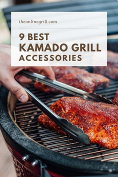 One of the things that keeps the popularity of kamado grills on the rise is their flexibility, and this is largely down to the amount of add-ons and accessories you can get for your grill.In this post we take a look at the 9 best accessories for your kamado grill, and recommend our favorites. Grill Grates, Bbq Grill, Best Kamado Grill, Flat Top Grill, Ceramic Grill, Best Charcoal, Kamado Joe, Grill Accessories, Wood Fired Oven