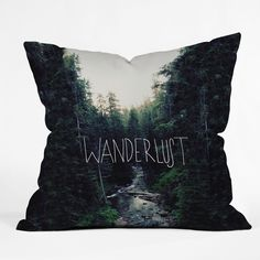 Leah Flores Wanderlust 1 Throw Pillow   DENY Designs Home Accessories