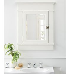 Rejuvenation: Bath - Minimal and clean, our Palmer Medicine Cabinet is easy to integrate into any bathroom style -- regardless of molding detail or period. Bathroom Ceiling Light, Bathroom Sconces, Master Bathroom, Bathroom Hardware, Downstairs Bathroom, Washroom, Bathroom Cabinets, Bathroom Storage, Furniture Care